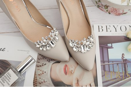 彎彎微笑水鑽鞋扣鞋夾配飾-EPRIS艾佩絲