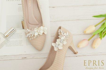 五月雪滿天星飾扣鞋扣 -EPRIS艾佩絲