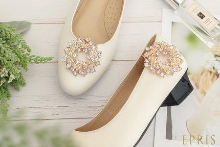 圓形水鑽飾扣 勝利祝福 甜月桂 婚鞋推薦飾扣鞋夾-EPRIS艾佩絲