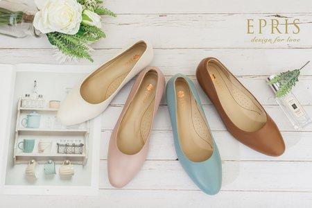 大尺碼婚鞋 圓頭低跟鞋-EPRIS艾佩絲