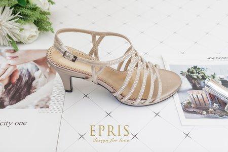 交叉水鑽高跟涼鞋-EPRIS艾佩絲