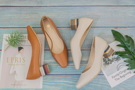 戶外婚禮推薦 素面方頭粗跟鞋-EPRIS艾佩絲
