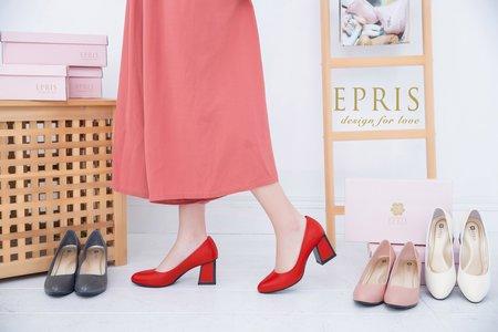 繆斯女神 圓頭方跟鞋-EPRIS艾佩絲