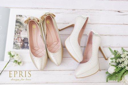 時尚手作婚紗鞋 手工婚鞋推薦 飛舞女神 蝴蝶結婚鞋-EPRIS艾佩絲