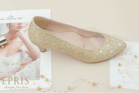 中低跟婚鞋推薦 星夜女神 閃耀星星-EPRIS艾佩絲