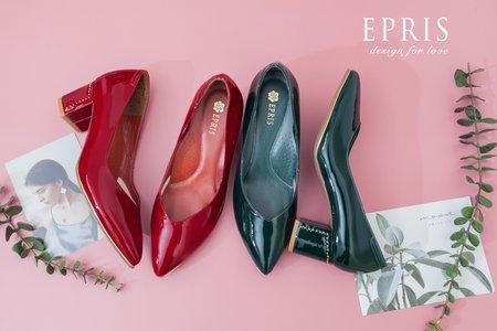 戶外婚禮婚鞋推薦 搖滾女孩 粗跟高跟鞋-EPRIS艾佩絲