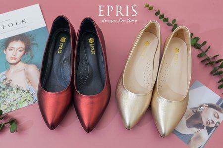 喜宴穿搭尖頭低跟鞋推薦 豔陽女神 婚禮鞋-EPRIS艾佩絲