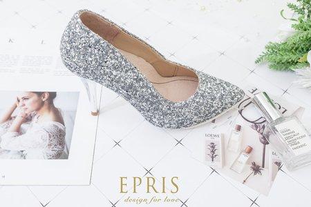 婚紗高跟鞋推薦 湖畔女神 星星亮片尖頭婚鞋-EPRIS艾佩絲
