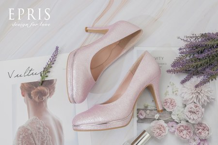 手工婚鞋 櫻花女神 甜美可人粉色婚鞋-EPRIS艾佩絲