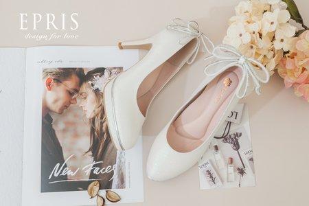 精緻平價婚鞋 天使女神 白紗婚鞋-EPRIS艾佩絲