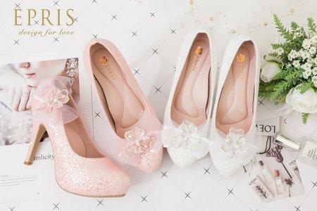 甜美系夢幻婚鞋 繽紛女神 飾扣組合多變婚鞋-EPRIS艾佩絲