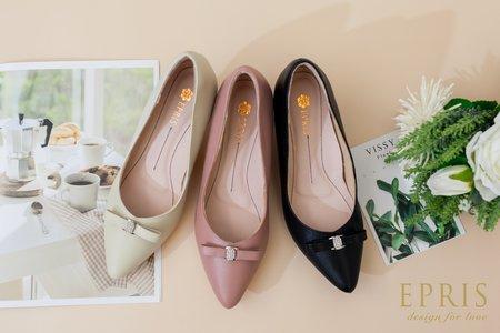 蝴蝶結中跟鞋 氣質女孩-EPRIS艾佩絲