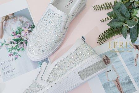 浪漫蕾絲厚底增高平底婚鞋 蛋糕公主-EPRIS艾佩絲