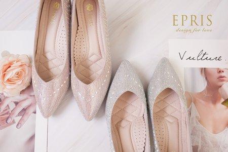 精靈溫蒂妮 水鑽跟鞋-EPRIS艾佩絲