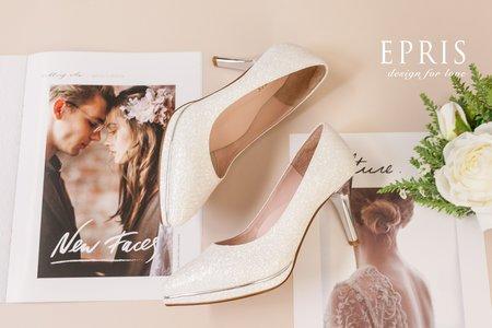 白紗婚鞋穿搭 女神 尖頭高跟婚鞋 大尺碼婚鞋-EPRIS艾佩絲