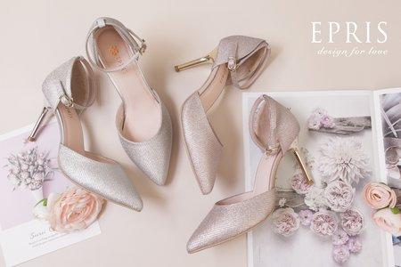 優雅漫步 顯瘦足踝繫帶婚鞋 法式繫帶尖頭細跟鞋-EPRIS艾佩絲
