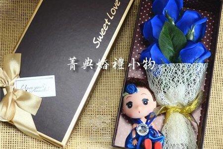 ☆結婚の手作小物☆姊妹禮-仿真玫瑰香皂娃娃