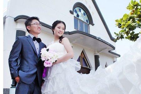 ☆台南幸福婚訊數位自助婚紗攝影工作室的部落格☆結婚式の水晶教堂婚紗外拍