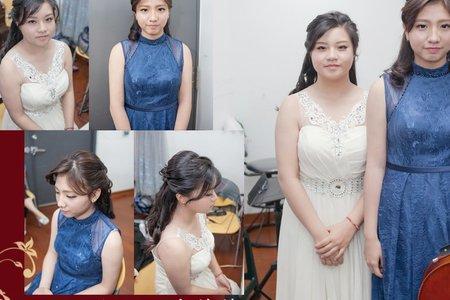 婚禮新娘秘書菁菁全省到府服務(台南藝術大學聯合音樂會)音樂會妝髮造型