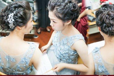 婚禮新娘秘書菁菁全省到府服務(台南藝術大學聯合音樂會)音樂會妝髮造型」