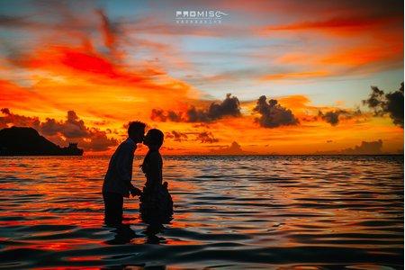 關島超美的夕陽 超美的藍天