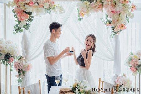 韓式婚紗|棚內婚紗|蘿亞攝影棚【麗涵&珈瑋】浪漫時刻