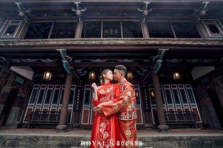 中式婚紗 秀和服x林家花園