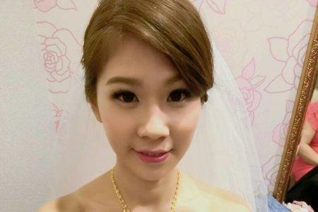 韓系妝感+韓系簡約造型-短髮新娘無使用假髮