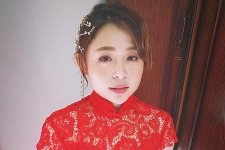 文定儀式單妝服務旗袍