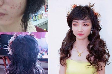 台南佳里新娘造型服務-短髮新娘