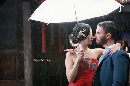 婚紗外拍-中國風優雅氣質低髻盤髮