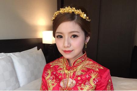 中式婚紗龍鳳掛訂婚造型