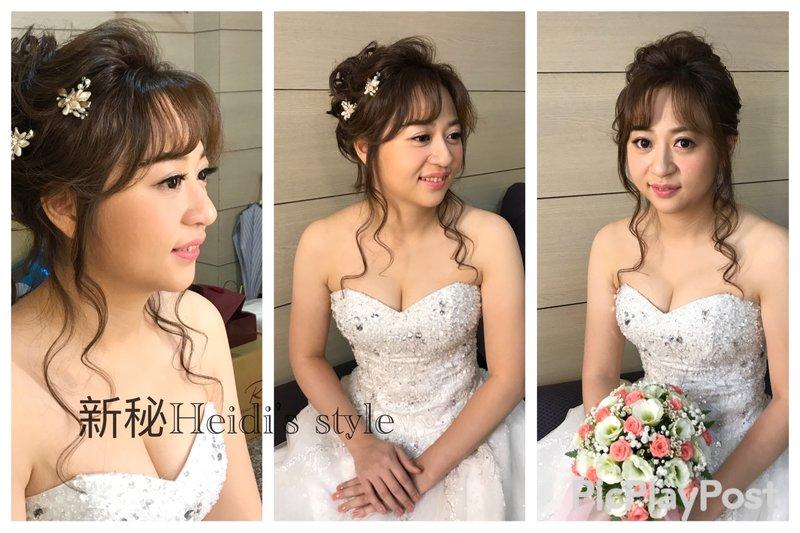 結婚晚宴3造型 台北新北新莊新秘推薦作品