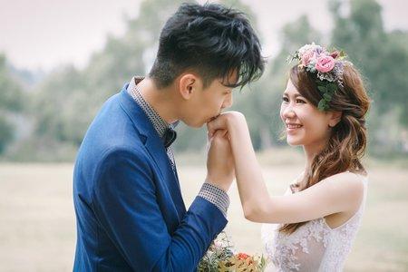Nina makeup新秘妮娜-復古柔美婚紗造型