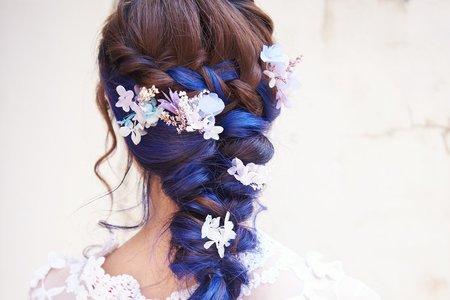 Nina makeup新秘妮娜-挑染髮浪漫編髮