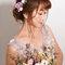台中台北新秘Nina Makeup 新娘彩妝造型-婚紗婚宴造型 低盤髮&側編髮