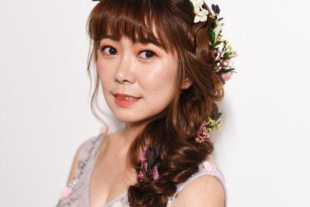 Nina Makeup彩妝造型-婚紗婚宴造型 低盤髮&側編髮