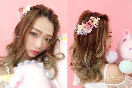Nina Makeup彩妝造型-kiki日系仙女造型