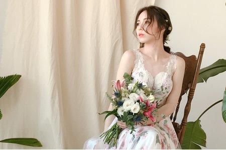 Nina Makeup彩妝造型-小花婚紗造型
