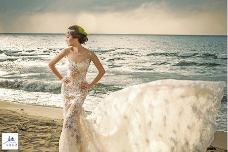 希臘婚禮 婚紗 攝影 手工婚紗禮服
