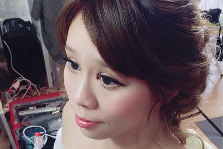 3/26 lily 浪漫低盤編髮