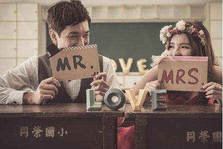 【韓系清新自然】拍婚紗-校園、大同大學