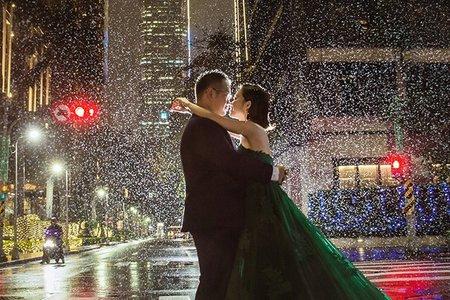 台北101夜景婚紗照