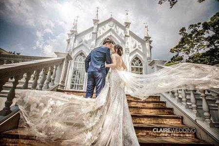 好想在教堂拍婚紗照/白色夢幻教堂
