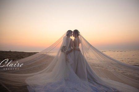 慈&豪 同性婚紗照💙