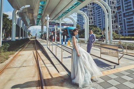美式電影婚紗/淡水輕軌 | 聯名攝影 沃荷
