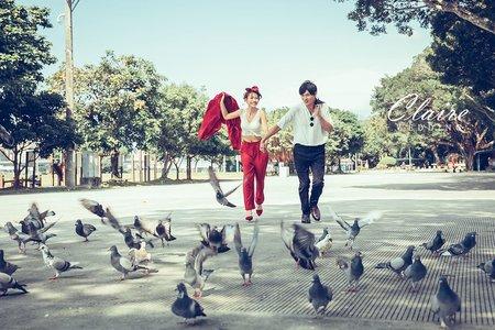 【辛辛克萊】台北街頭穿便服 x 美式時尚輕婚紗| 大稻埕pier5、中山商圈