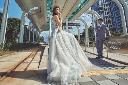 【辛辛克萊】美式電影婚紗 x 淡水輕軌 | 聯名攝影 沃荷