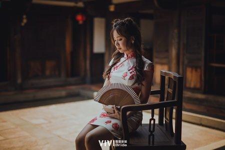 中式婚紗禮服(外景、內景、復古、自然、陽光)