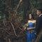 乾燥花 復古蕾絲 藍色晚禮服 新娘超美 老公很帥(編號:51457)